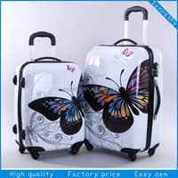 100% PC Fancy Unique Lightweight Wheels Travel Luggage