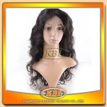 Wholesale top grade virgin human hair grey lace front wig