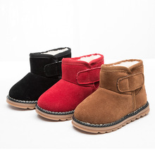 high quality low price little girls warm custom cute cheap winter snow boots