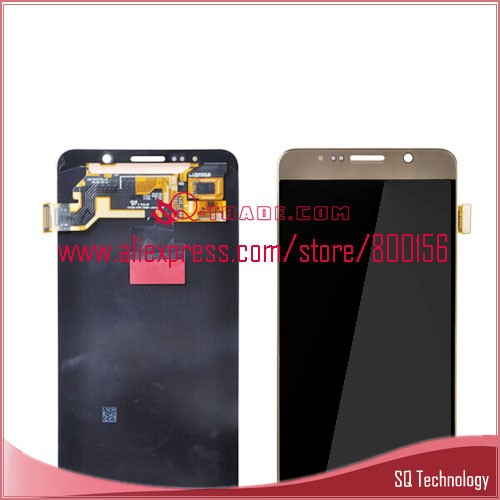 5.7inch 2560x1440 LCD for Samsung for Galaxy Note 5 Display with Touch Screen Digitizer Gold Color