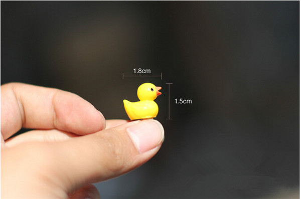 Fairy Garden Mini cute little yellow duck Resin Crafts