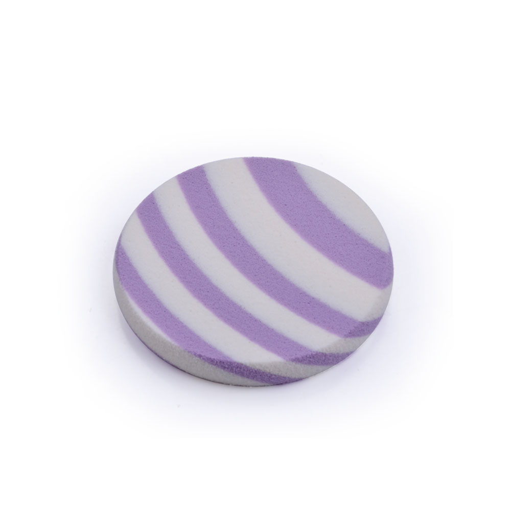 Latex-free BB Cream Round Purple Marble Cosmetic Powder Puff Sponge