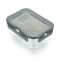 New Borosilicate heat resistance glass food storage container with lids