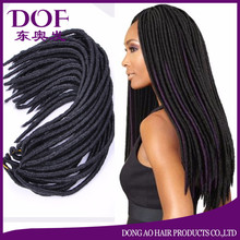 Black color synthetic hair wig braided 28inch senegalese twist wigs for black women