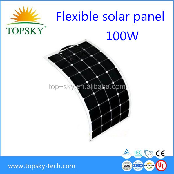 2017 hotsales sunpower Flexible solar module ,solar panels,made with sunpower cells