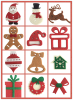 Biscuitmen ect pattern Christmas home decoration custom christmas sticker made in shantou