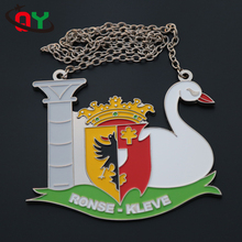 wholesale military high quality custom 3d swan award ribbons and metal engraved custom award medals
