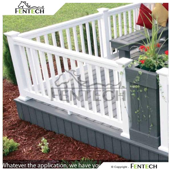Safety strong high quality pvc fence for terraces
