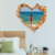Love heart 3D home decorative window sticker