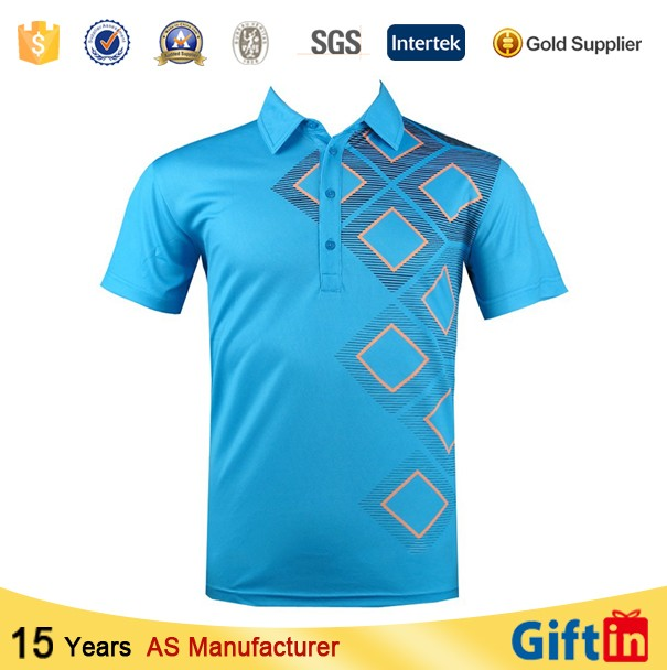Custom new model 100 polyester high quality polo t shirts for Custom polyester polo shirts