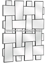 HWM10574 mirror strip crossed modern wall decorative mirror for home beauty