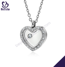 costume wholesale fashion stainless steel heart shaped pendant