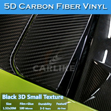 Newest Super Quality Glossy Black Auto Full Body Decoration 5D Carbon Fiber
