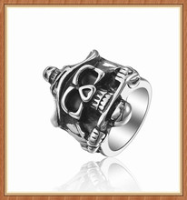 china new launch Male Vogue Fashion Stainless Steel Silver Men Skull Ring