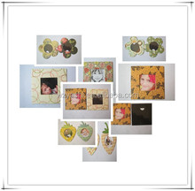 pictures photo frame , family photo frame type paper fridge magnet photo frame