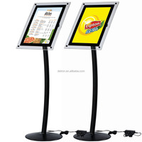 Advertising acrylic display stand poster outdoor acrylic A5 size menu stand