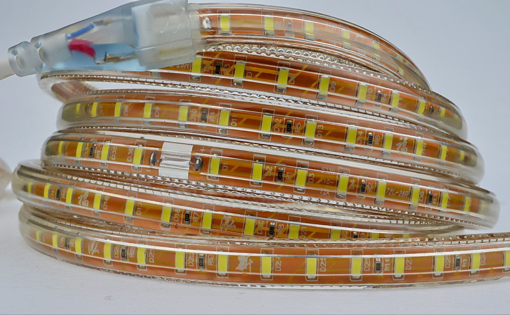 Factory direct sale high lumen pressure PVC copper wire 72leds SMD5730 led strip light