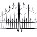 To win warm praise from customers metal garden iron fence gate