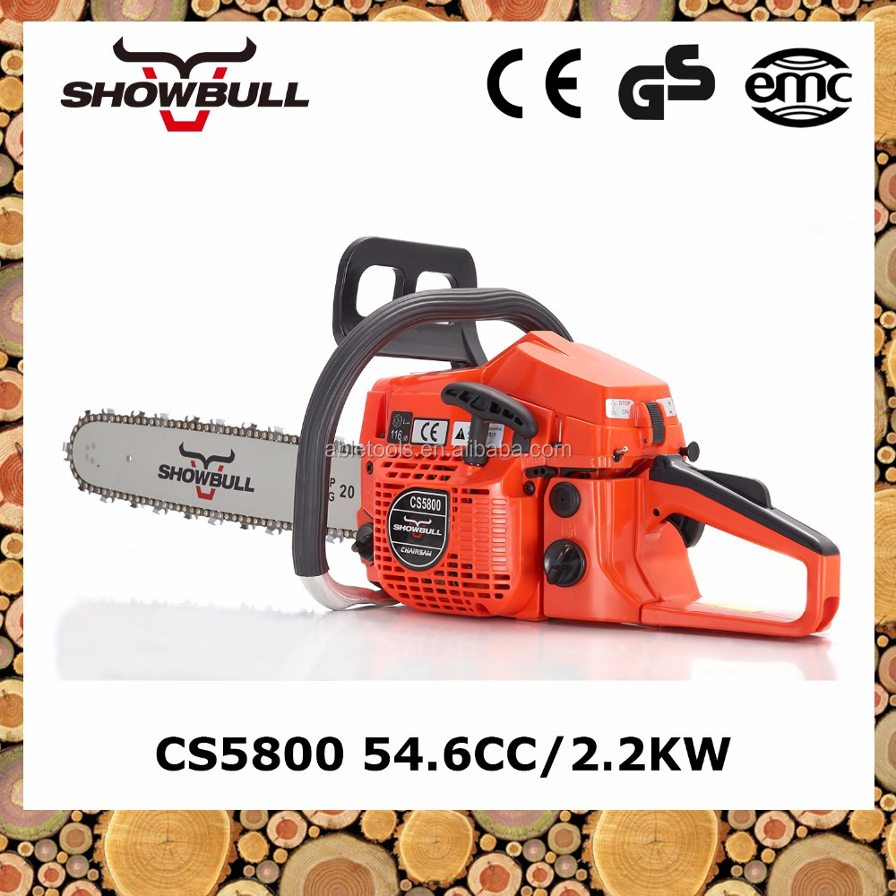 wedding invitation card 54cc CS5800 chainsaw trencher with king saw chain