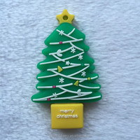 Hot Sell Promotional Customized Design Bulk Christmas Tree Shape Santa Claus Christmas USB Flash Drive Stick