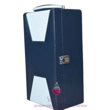new product faux leather double bottle leather wine carrier
