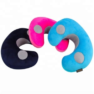 Massager travel cushion with vibration music massage pillow