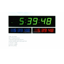 Large decorative led digital wall time clock for elderly
