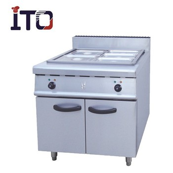 CJ 884 Freestanding Commercial Electric Bain Marie Food Warmer With Cabinet