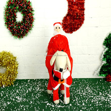 New Design Funny Christmas Santa Claus Gifts Costume for Xmas Personalized Dog Clothes