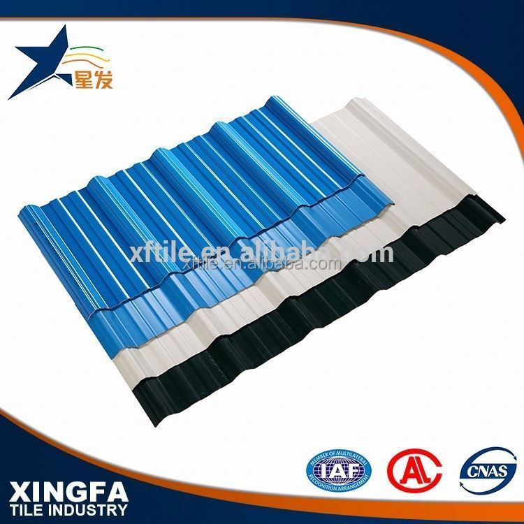 Fire resistance APVC trapezium 50mm thick roof insulation roofing tile