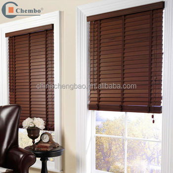 Factory supplier manual venetian wooden window blind