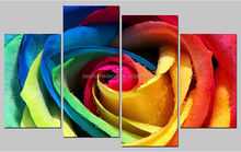 rose flower oil painting on canvas,canvas flower oil painting