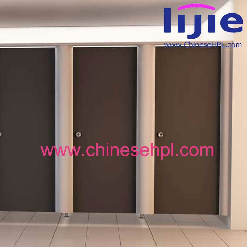 Light Color Formica Hpl Wood grain Compact Laminate Toilet Partition