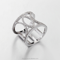 LIXIN 925 sterling silver, micro setting ring, fashion fancy ring(JYH08A8-ZZ)