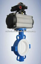 Rubber seat two pieces bodys Butterfly Valve