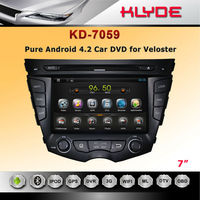 hot sell Bluetooth-Enabled Built-in GPS MP3 MP4 Players Radio Tuner Touch Screen TV Combination android car dvd for veloster