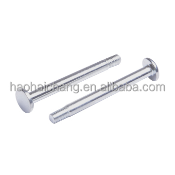 OEM high precision metal lathe flat head pin with thread