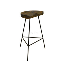 BS019C Swivel bar stool with wheels
