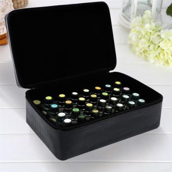 15ml 40 Bottles Essential Oil Carrying Case Zipper Hard Shell