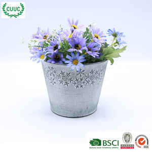 Christmas cheap galvanize zinc plant flower pot cover