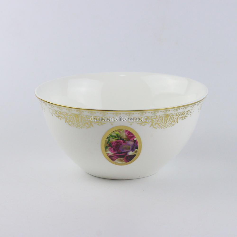 High quality large rose theme series ceramic soup bowl