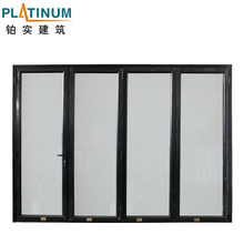 2017 New Brand Insulated Folding Door with Tempered Glass