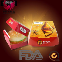 Disposable Cardboard Hamburger Packaging Boxes for fast food