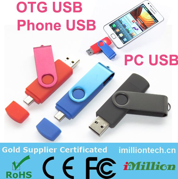 Cheap Swivel USB Drives Bulk Smartphone Flash Memory Drive OTG USB 3.0 Flash Drive with High Quality