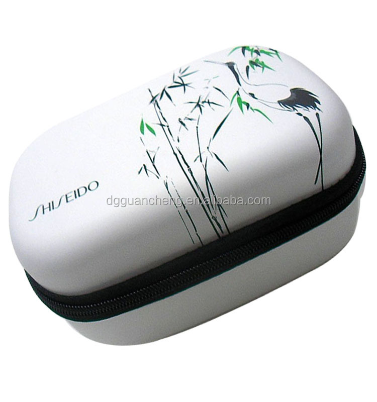 GC---Wonderful PU white color new custom cosmetics pu eva case