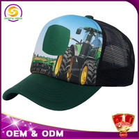 custom print 5 panel foam mesh trucker cap