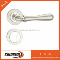 Zinc alloy door lock, zinc lever handle on roses, zinc mortise door handle
