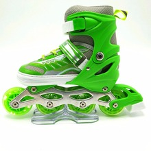 2017 new design inline skates rubber wheel pu wheel inline skate with CE