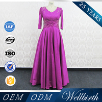 Short fat women dress party dress mother of the groom latest design muslim dressss
