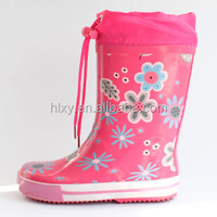 Floral Welly with Nylon Topper